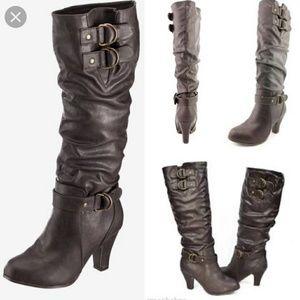 NEW Rampage Eleanor Women Brown Dress Boots 6M